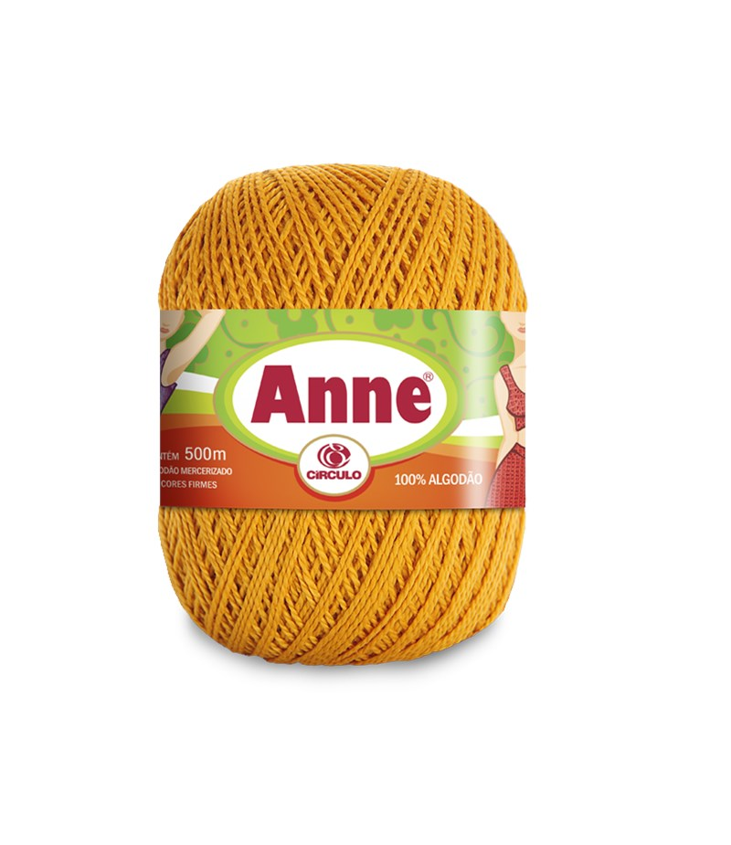 Linha de Crochê e Tricô - Anne 500 - 500 metros - 100% Algodão - Círculo