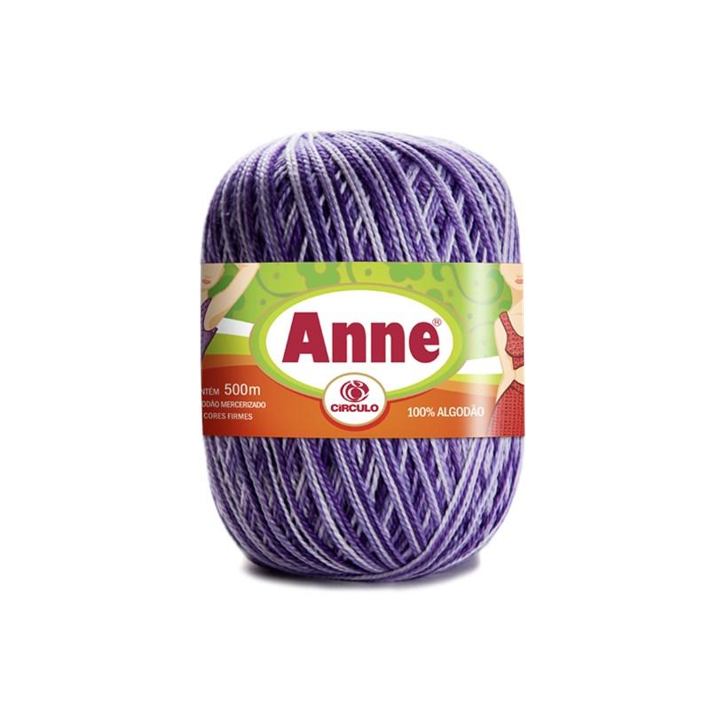 Linha de Crochê e Tricô - Anne 500 - Cores Mesclas - 500 metros - 100% Algodão - Círculo
