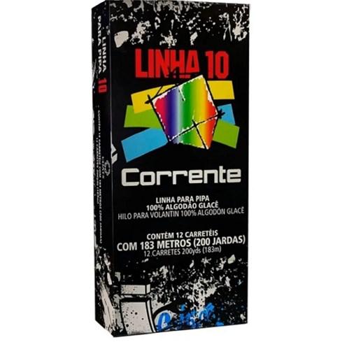 LINHA DE PIPA 10 CORRENTE CONE COM 183 METROS CAIXA COM 12 UNIDADES