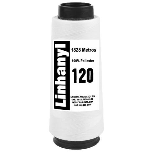 LINHA PARA COSTURA LINHANYL BRANCA 120 COM 2000 JARDAS