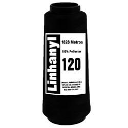 LINHA PARA COSTURA LINHANYL PRETA 120 COM 2000 JARDAS