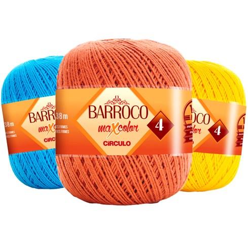 Linha Para Crochê ou Tricô - Barroco Maxcolor 4 - 338 metros - 100% Algodão 9db1652c14a