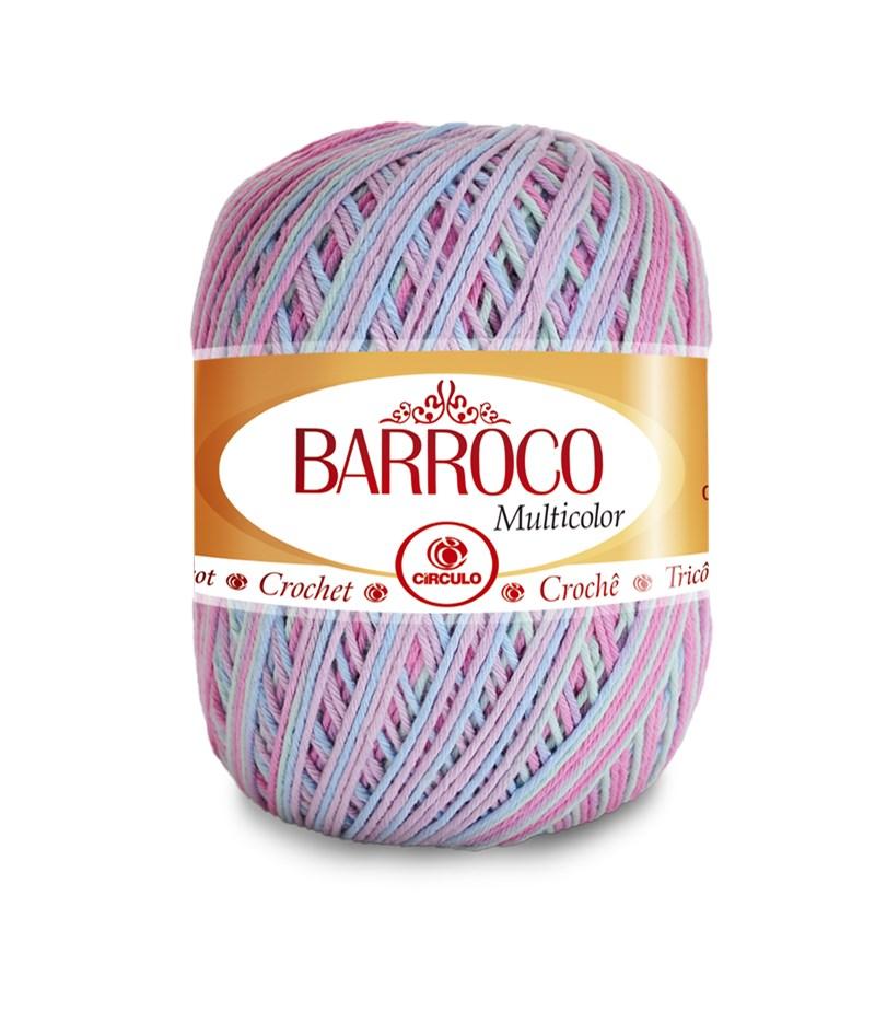 Linha Para Crochê ou Tricô - Barroco Multicolor - 226 metros - 100% Algodão - Círculo