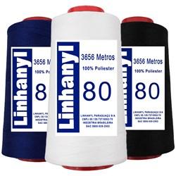 Linha Pesponto 100% Poliéster Fiado 80 c/ 3656 Metros Linhanyl