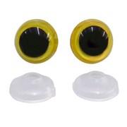 Olhos Para Amigurumi - Com 10 Pares - Amarelo - Circulo