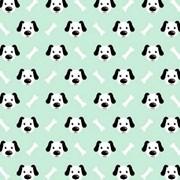 Tecido Tricoline Para Artesanato - 2129 - Cachorro - 50cm x 150cm - Peripan