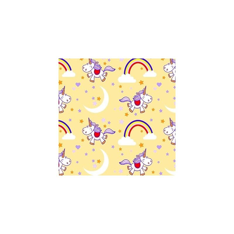 Tecido Tricoline Para Artesanato - 6007 - Unicórnios - 50cm x 150cm - Peripan