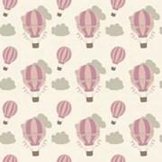Tecido Tricoline Para Patchwork - 6502 - Balões Rosas - 50cm x 150cm - Fabricart