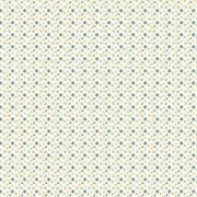 Tecido Tricoline Para Patchwork - 6505 - Estrelinhas Tricolores Com Azul - 50cm x 150cm - Fabricart