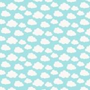 Tecido Tricoline Para Patchwork - 7210 - Nuvem Azul - 50cm x 150cm - Fabricart