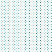 Tecido Tricoline Para Patchwork - 7211 - Multi Poá Azul - 50cm x 150cm - Fabricart