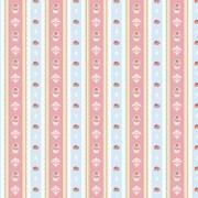 Tecido Tricoline Para Patchwork - 8304 - Cupcake Lace Azul Brisa - 50cm x 150cm - Fabricart