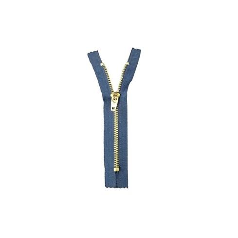 Zíper Corrente Metal Dourado - GC 459 - 07cm - Cor 0507 Marinho