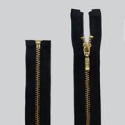 Zíper de Metal - Destacável - Dourado - 65cm - Pingente Palito - Pacote com 10 Unidades - VMH