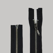 Zíper de Metal - Destacável - Niquel - 45cm - Pingente Palito - 1un - VMH
