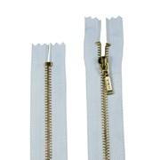 Zíper de Metal - Fixo - Dourado - 12cm - Pingente Palito - 1un - VMH