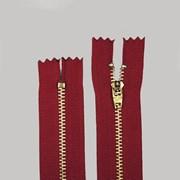 Zíper de Metal Médio - Fixo - Dourado - 15cm - Importado - Pacote com 10 Unidades - VMH