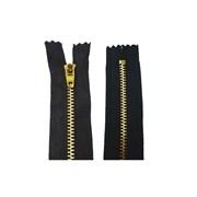 Zíper de Metal Médio - Fixo - Dourado - 5cm - Importado - 1un - VMH