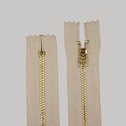 Zíper de Metal Médio - Fixo - Dourado - 8cm - Importado - Pacote com 10 Unidades - VMH
