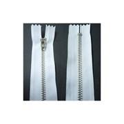 Zíper de Metal Médio - Fixo - Niquel - 12cm - Importado - 10 Unidades