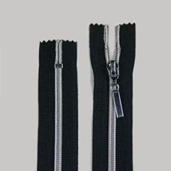 Zíper de Nylon Aluminizado Fixo Niquel BZ 12cm Pacote com 10 Unidades