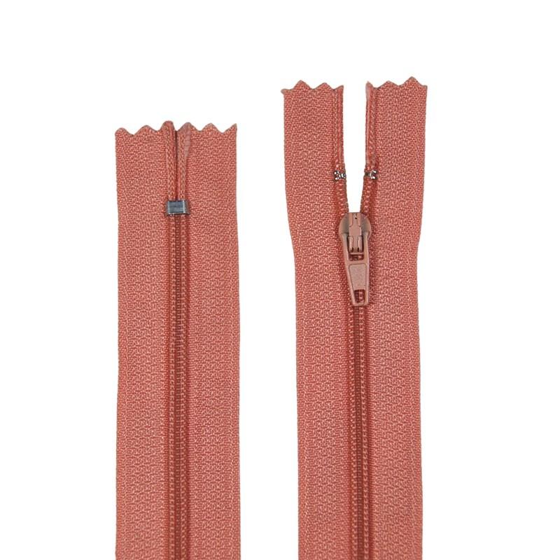 Zíper de Nylon Fino - Fixo - Importado - 10cm - Pacote com 10 Unidades - VMH