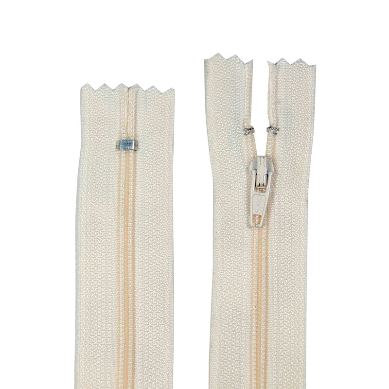 Zíper de Nylon Fino - Fixo - Importado - 12cm - Pacote com 10 Unidades - VMH