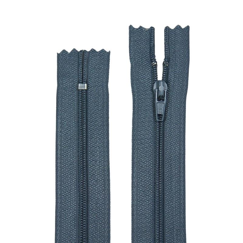 Zíper de Nylon Fino - Fixo - Importado - 25cm - Pacote com 10 Unidades - VMH