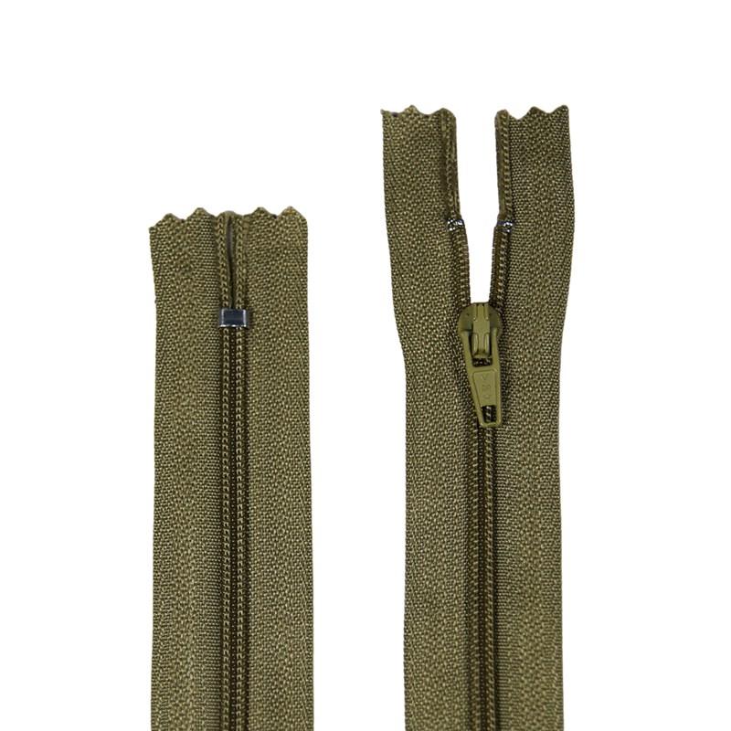 Zíper de Nylon Fino - Fixo - Importado - 40cm - 1un - VMH