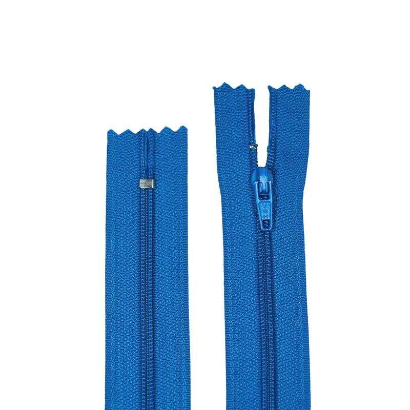 Zíper de Nylon Fino - Fixo - Importado - 45cm - 1un - VMH