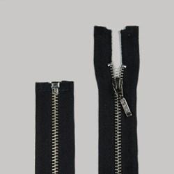Zíper Destacável de Metal Niquel 65cm Pingente Palito BZ Pacote com 10 Unidades