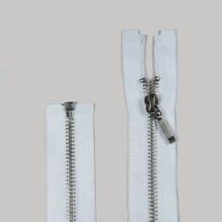 Zíper Destacável de Metal Niquel 70cm Pingente Palito BZ Pacote com 10 Unidades