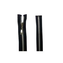 Zíper Destacável de Nylon Grosso Aluminizado Niquel BZ 50cm Pacote com 10 Unidades