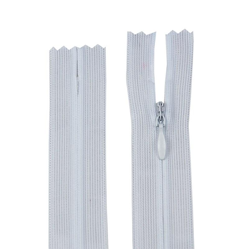 Zíper Invisível - Fixo - Importado - 50cm - Pacote com 10 Unidades